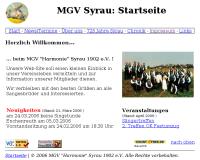 Alte Website MGV Syrau