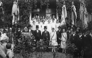 Fahnenweihe beim MGV Syrau 1927