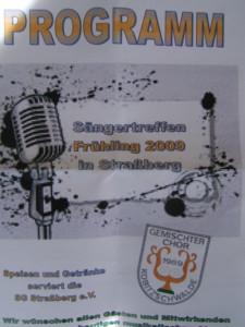 Sängertreffen Frühjahr 2009