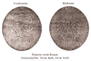 Zelter-Plakette für Chöre aus dem Vogtland