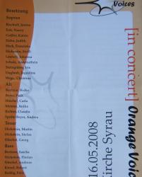 Orange Voices in der Syrauer Kirche