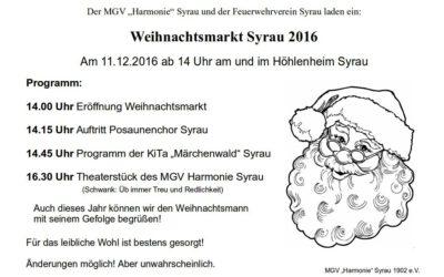 Weihnachtsmarkt Syrau 2016